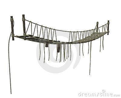 Rope Bridge Stock Illustrations.