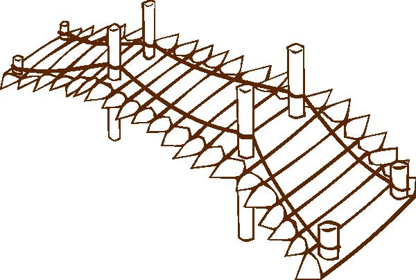 Clip Art Wooden Bridge Clipart.