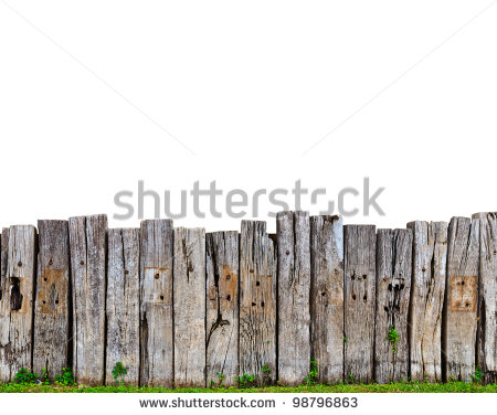 Old Wood Fence Clipart.