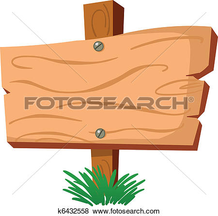 Clipart of vector wooden sign k8695605.
