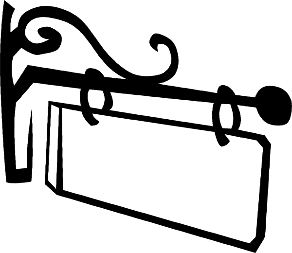 Blank Wood Sign Clipart.