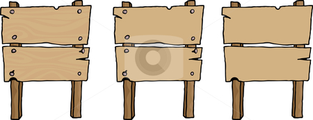 Old wooden sign clipart.