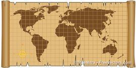 Free Old World Map Clipart and Vector Graphics.