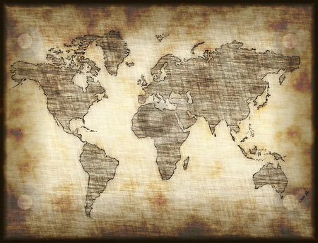 Old World Map Clipart.