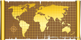 Old World Map Clip Art, Vector Old World Map.