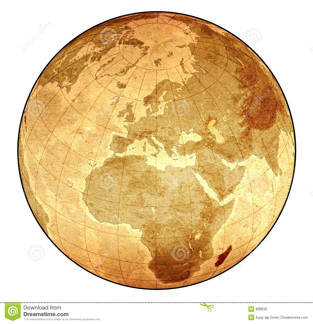 Old globe clipart.