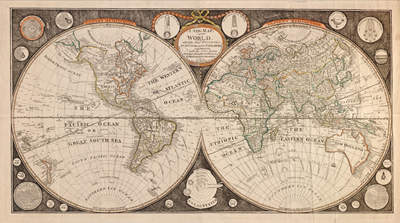 Old world map clip art.