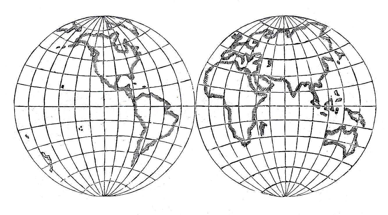 Old world globe clipart.