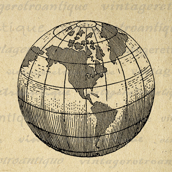 World map clipart.