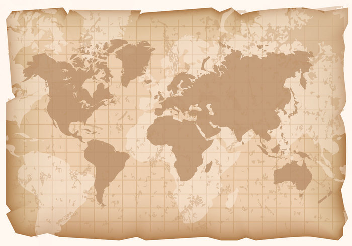 Vintage World Map Vector. Vintage. Lets Explorer All World Maps.