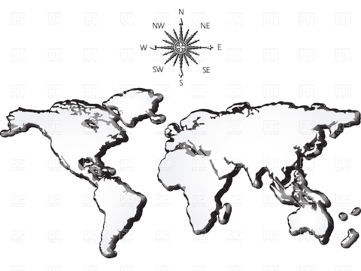 ... Earth Map Clipart Black And White World Map Clip Clipground ...