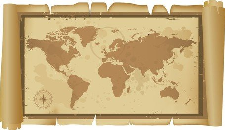 Old And Classic World Map Clipart Picture Free Download.