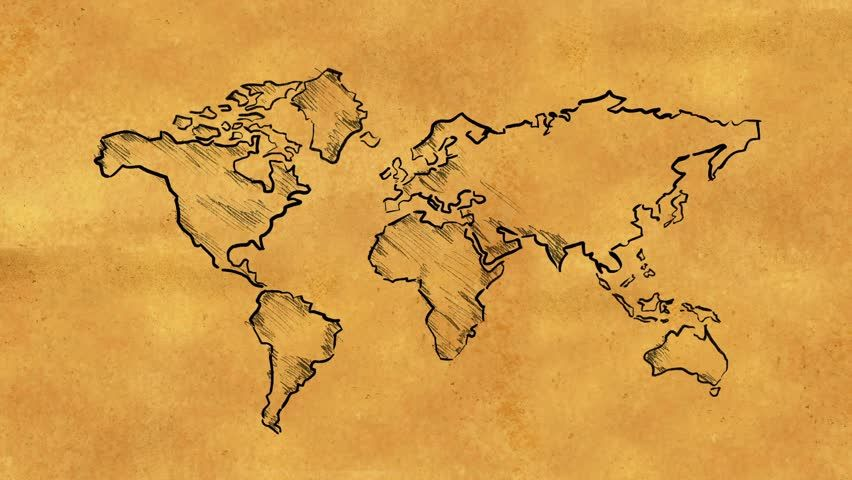 World Map Clipart old map 11.