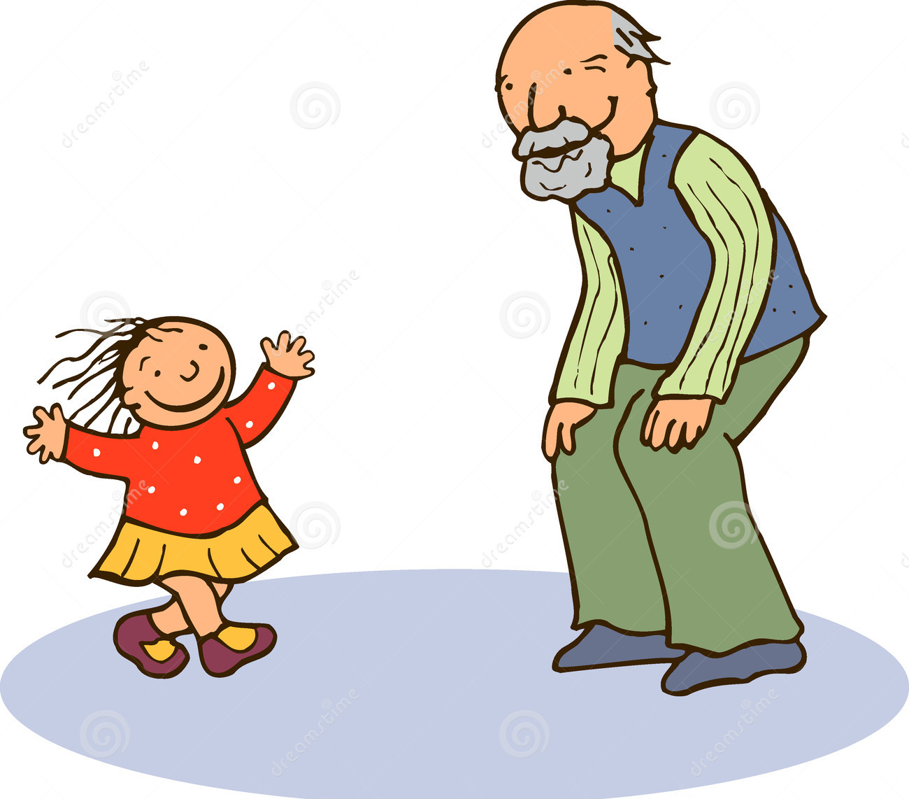 Old And Young Clipart.