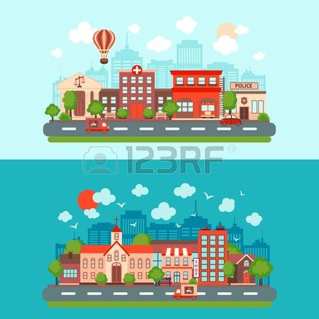 The Old City Stock Vector Illustration And Royalty Free The Old.