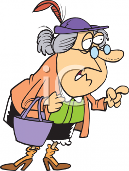 Confused Old Lady Clipart.