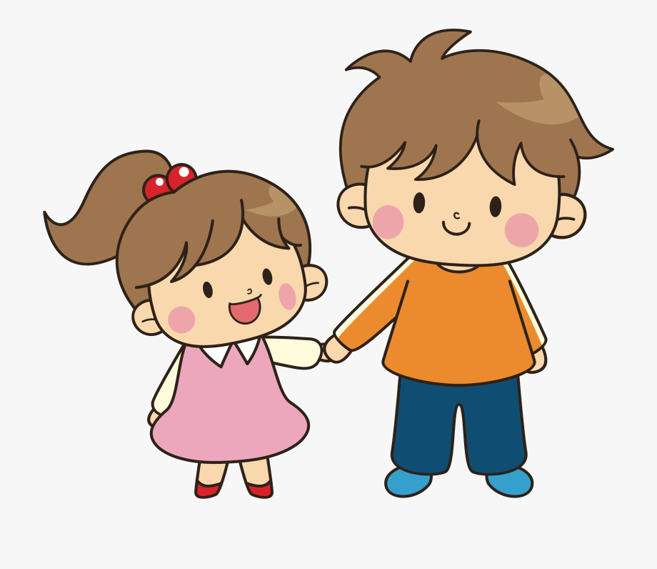 Clipart Of Older, Younger And Brother.