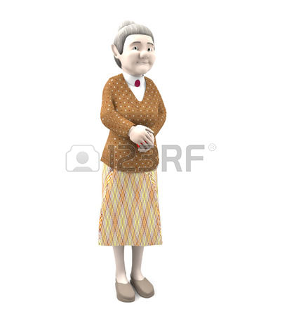 Older Woman Standing Clipart.