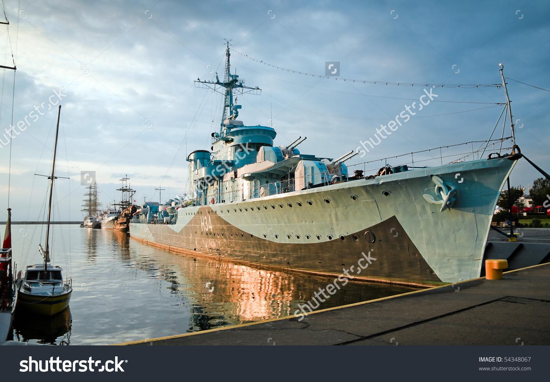 Destroyer Ship Oldest Preserved Destroyer World Stock Photo.