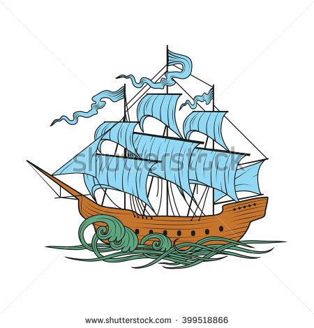 Old Sailing Ship Stock Photos, Royalty.