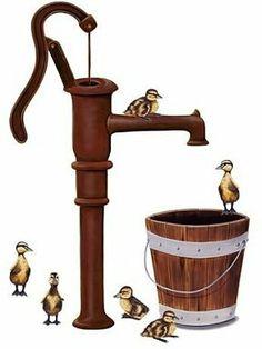 Water pump clipart.