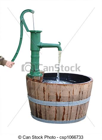Stock Photos of Old Fashioned Water Pump.