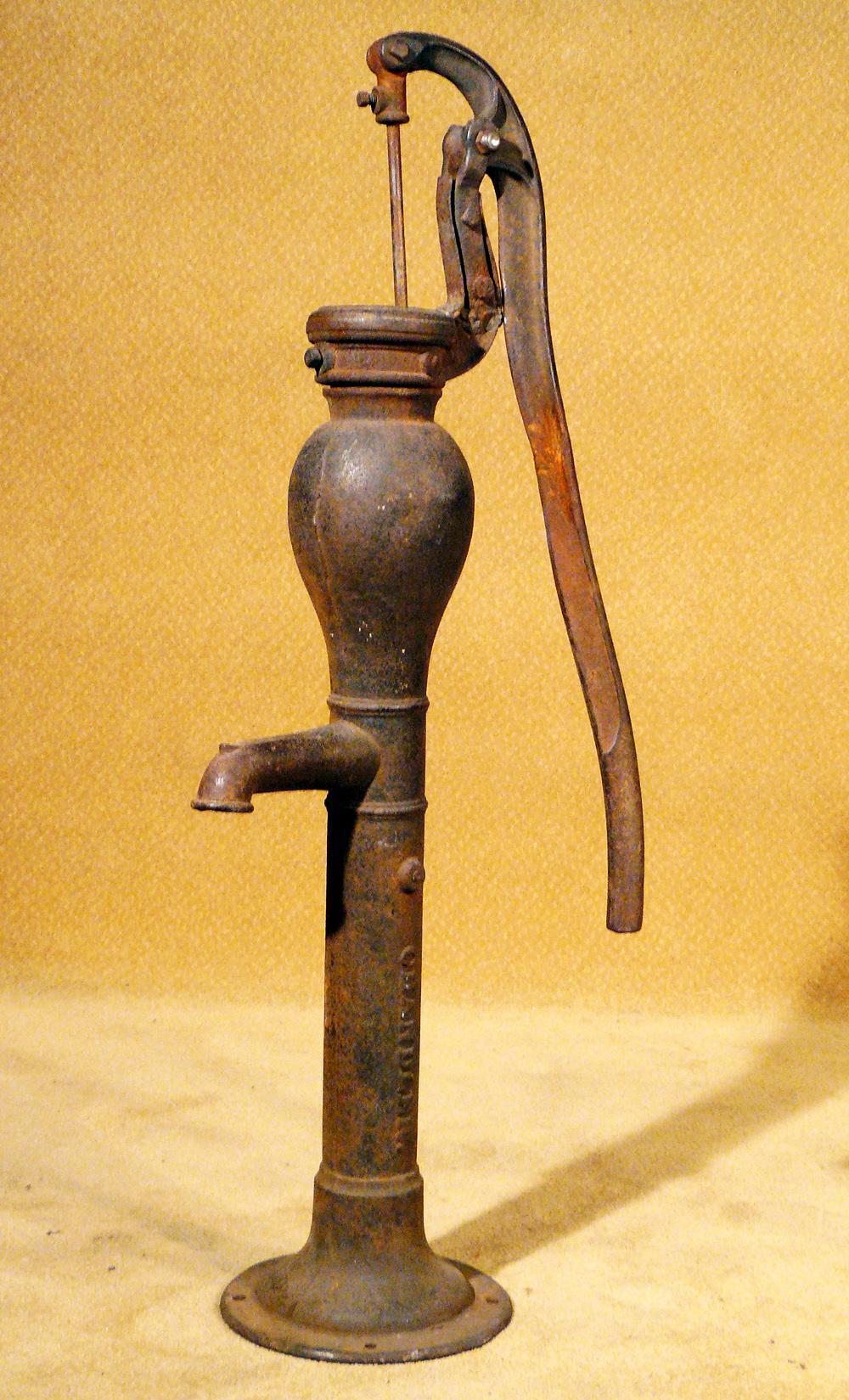 antique water pump.