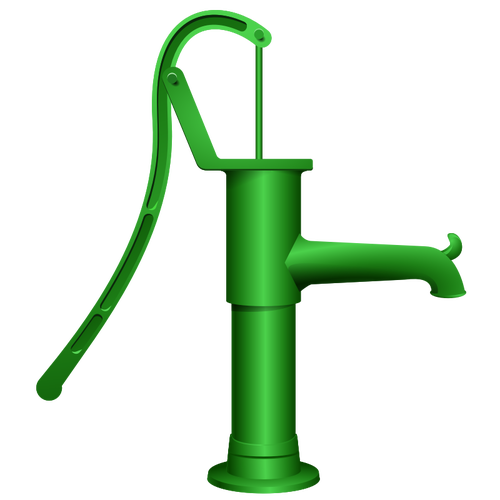 Vector graphics of water pump.