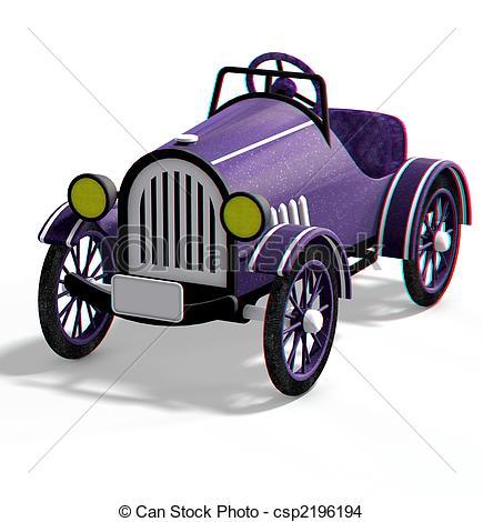 Drawing of oldtimer car.