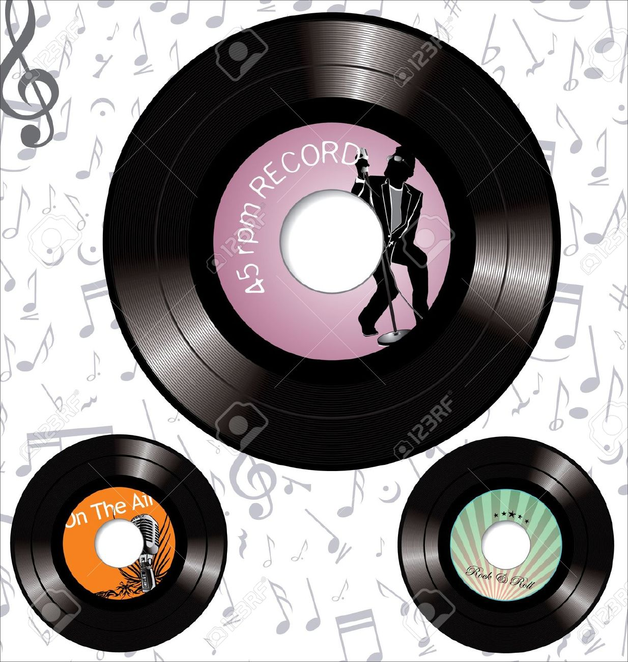 Oldies music clipart.