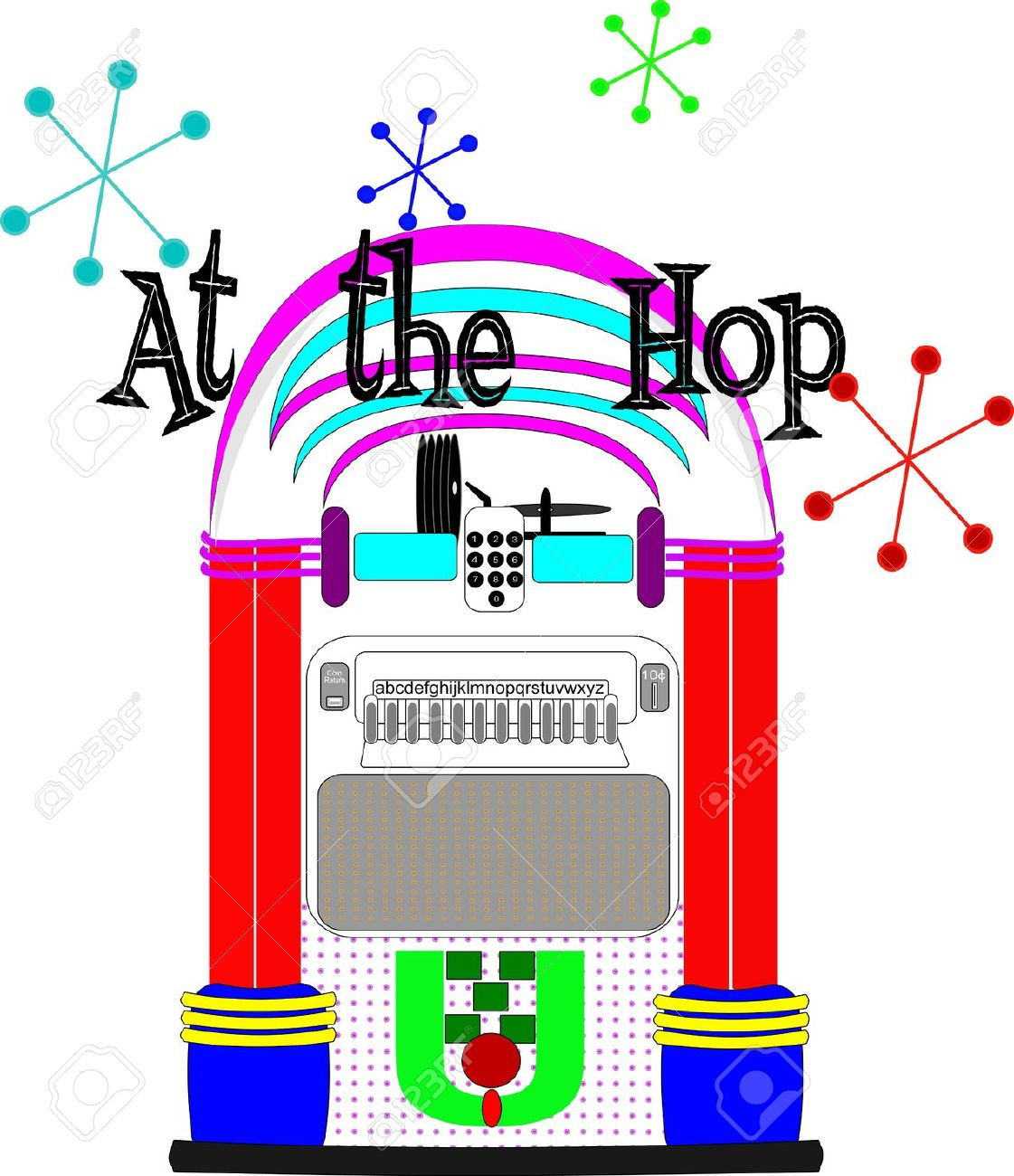 Line Art Jukebox : Oldies clipart clipground