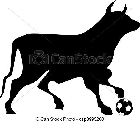 Vector Clipart of Bull soccer ball.
