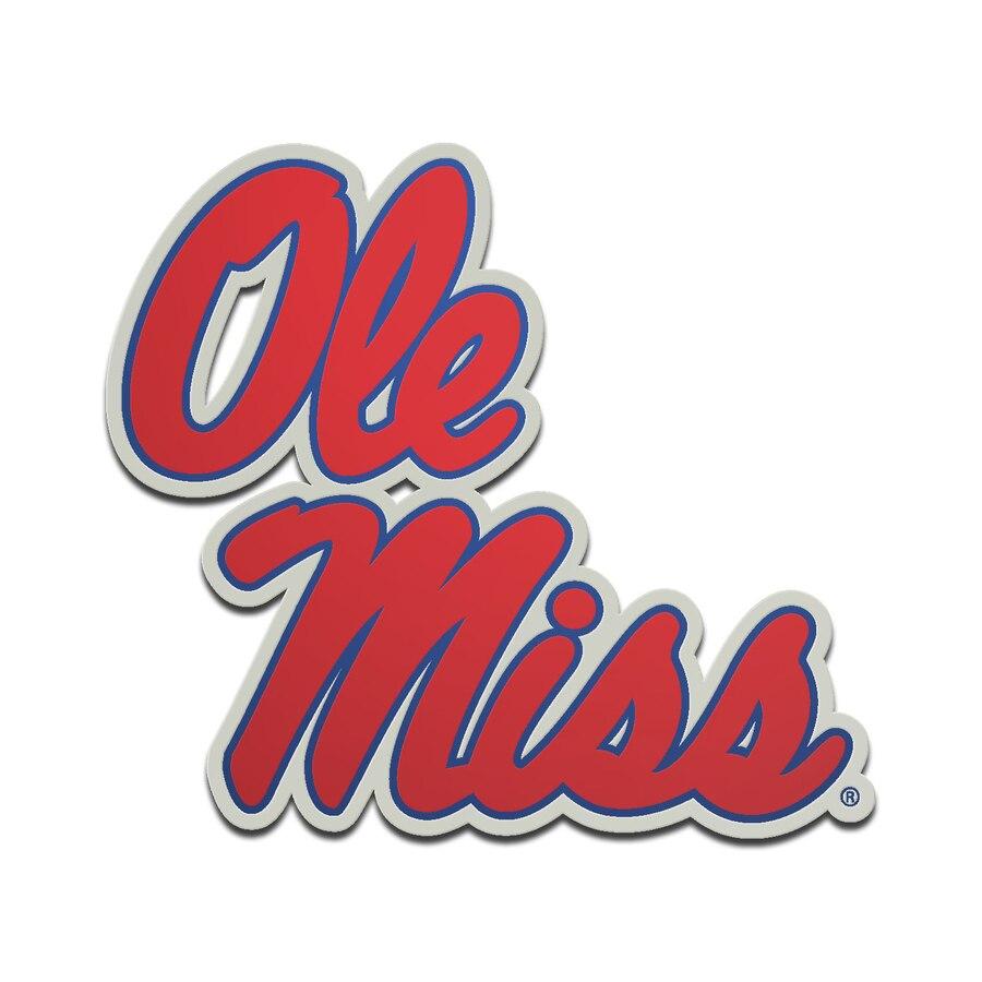 Ole Miss Rebels Metallic Freeform Logo Auto Emblem.