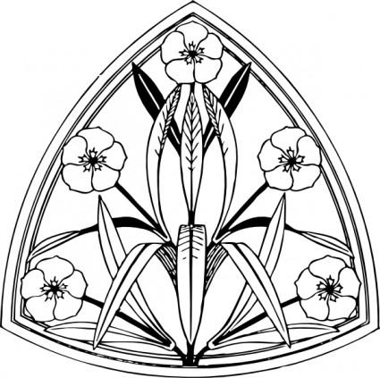 Oleander Design clip art.