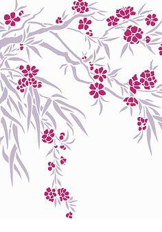 Oleander Flower Blossom Stencil Large Oleander Branch Stencil.