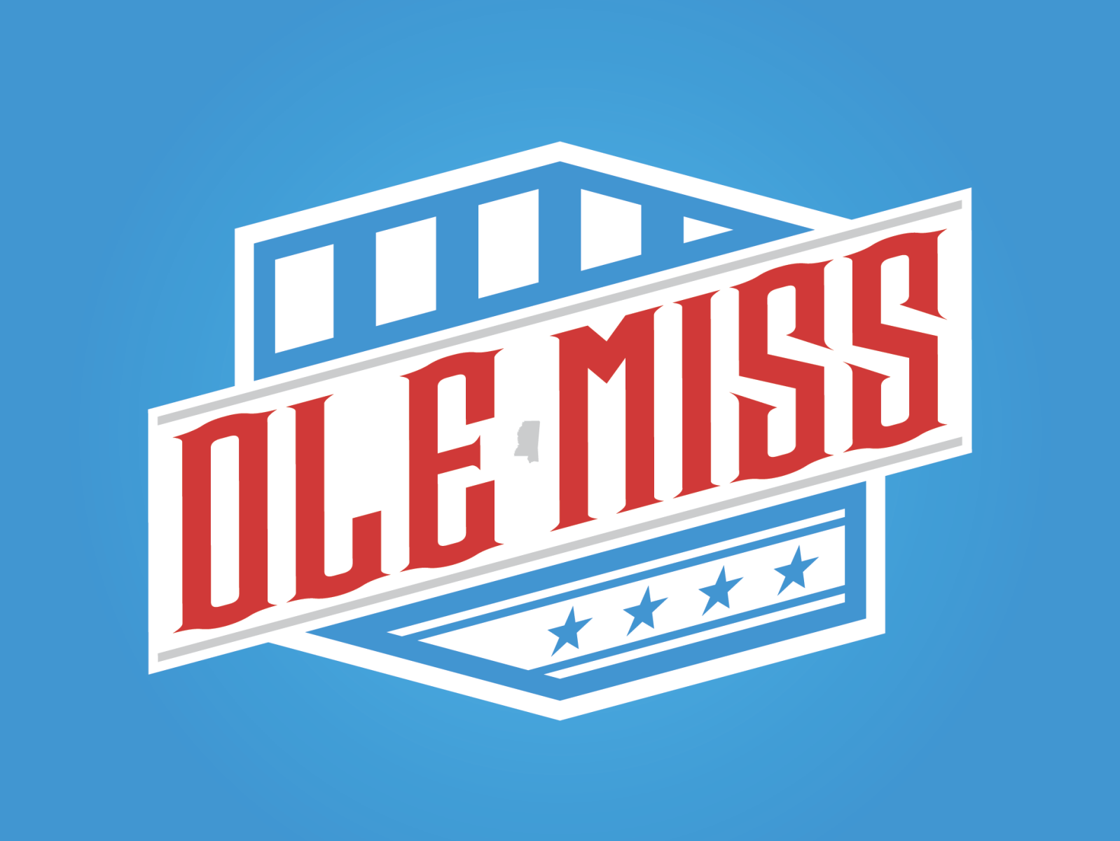 Ole Miss Rebels by Luke Orient on Dribbble.