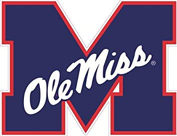 Amazon.com: 9 inch OLE Miss M Logo Decal University of.