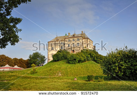 Big High Contrast Panorama Podgoretsky Castle Stock Photo 89554303.