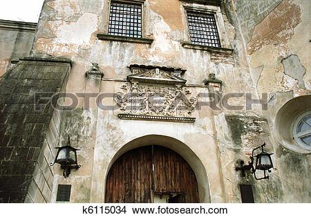 Stock Photo of Old Castle, Olesky Castle, Lviv k6115034.