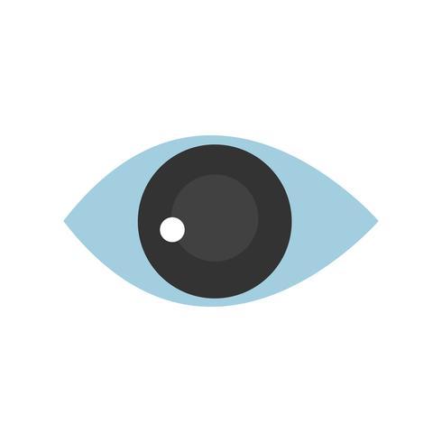 Olho humano, isolado, gráfico, ilustração.