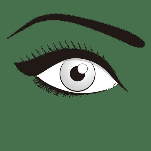 Maquiagem dos olhos.