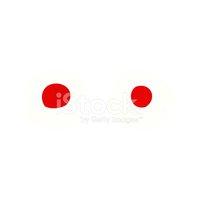 Desenhos Animados DE Olhos Vermelhos Stock Vector.