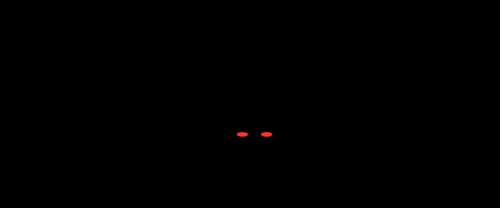 Silhueta de morcego com olhos vermelhos vetor clip art.