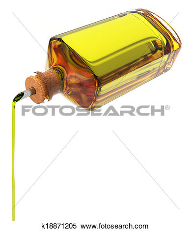 Stock Illustration of Olive oil bottle k18871205.