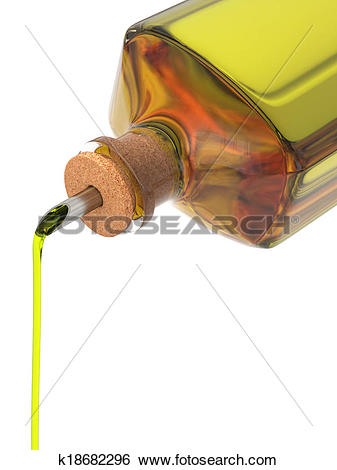 Stock Illustration of Olive oil bottle k18682296.