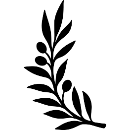 Silhouette Olive Branch Clipart.
