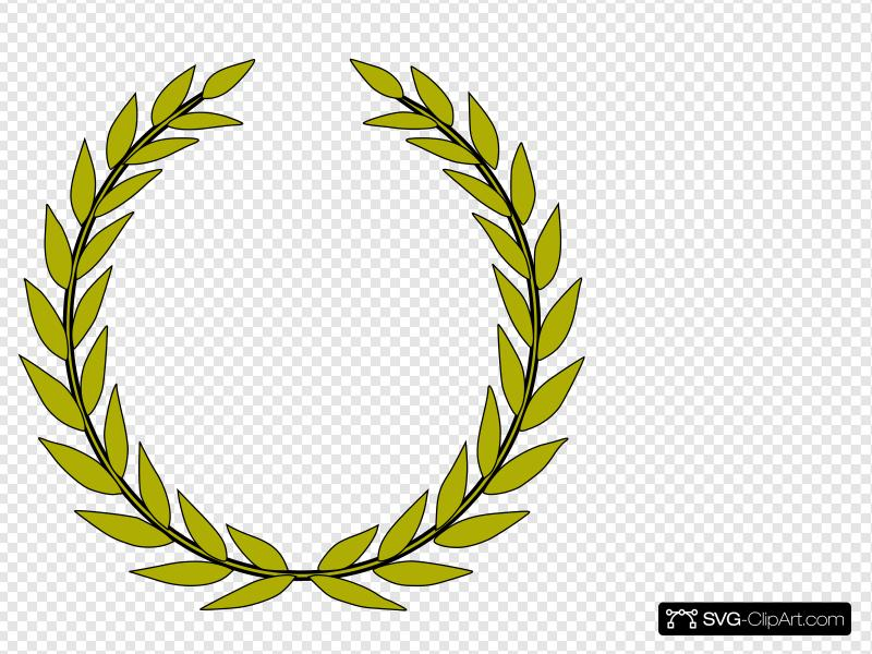 Green Olive Branch Clip art, Icon and SVG.