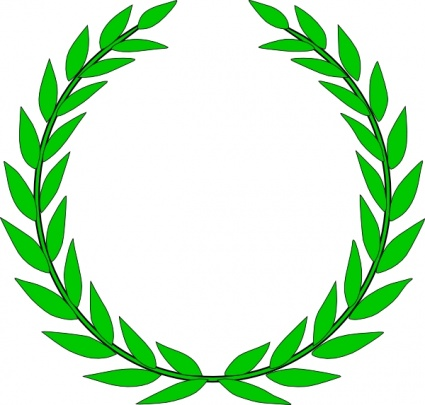 Crop Olive Leaf Wreath Clipart.