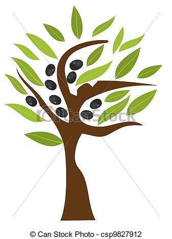 Crop Olive Tree Clipart.