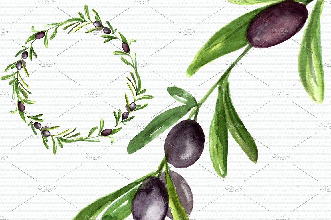 Watercolor Olive Garden Clipart #Transparent#pixels#Painted.